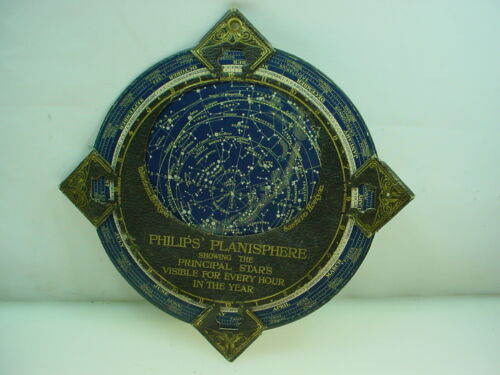 ANTIQUE PHILIPS PLANISPHERE STAR NAVIGATION NORTHERN HEMISPHERE