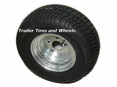 "*2* 205/65-10 LRB Bias Trailer Tire on 10"" 5 Lug Galvanized Wheel 20.5x8.0-10"