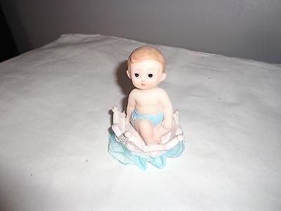 Crown Prince baby boy cake ceramic figurine Topper (Prince Crown Cake Topper)
