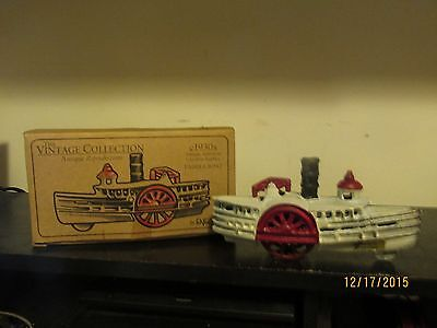 Kyпить ENESCO VINTAGE COLLECTION ANTIQUE CAST IRON 1930'S PADDLE WHEEL STEAMBOAT  на еВаy.соm