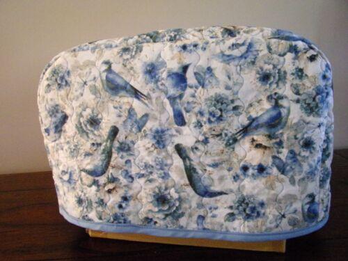 Blue birds 4-slice toaster cover- handmade