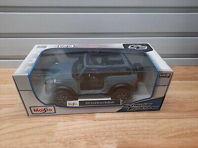 ALL NEW Maisto 1:18 Scale Diecast Model Car - 2021 Ford Bronco Badlands (Blue)