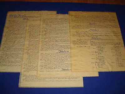 Constitution of the United States, 4 pgs, Poster Size 23 x 29 in., Reproduction