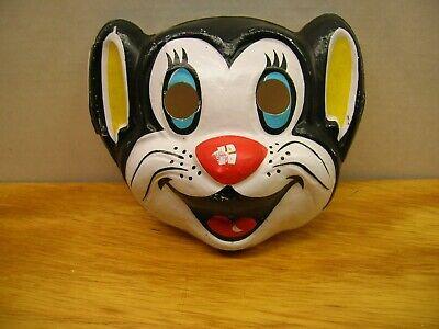 Vintage Black Cat Ben Cooper Halloween Mask/Costume