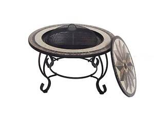 "30"" Fire Pit BBQ Table Fireplace Heater Brazier Rain with Cover Thomastown Whittlesea Area Preview"