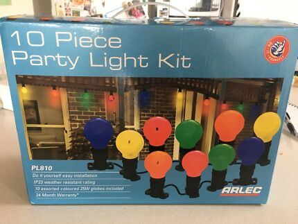 Coloured party lights x 10 - new never used
