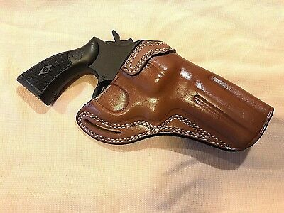 Leather CROSS DRAW Holster - S&W  N  Frame Revolver 4
