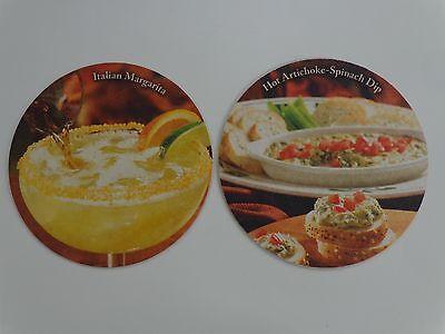 Beer Coaster: OLIVE GARDEN Restaurants Italian Margarita & Artichoke Spinach Dip Restaurant Spinach Dip