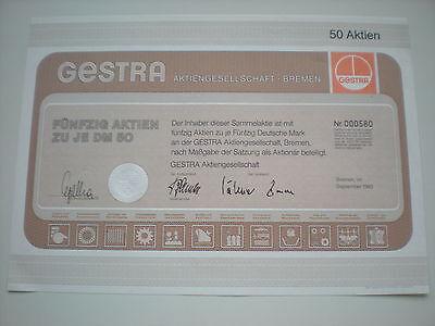 Deutschland - GESTRA  AG, Bremen  50  x 50 DM  1983   1/249-2