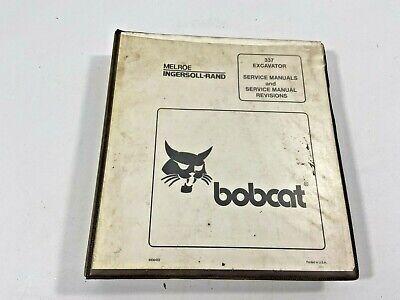 Bobcat Service Manual Binder For X337 And X341 Excavator 6900453