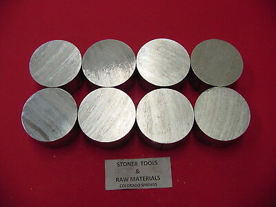 8 Pieces 1-12 Aluminum 6061 Round Bar 1.25 Long T6511 Solid Rod Lathe Stock