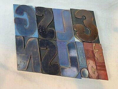 Vintage Letterpress Wood Type Printers Block Letters Gsnj  5 Tall E813