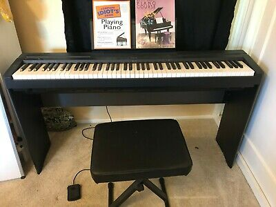 Yamaha P-45 Digital Piano Lightly Used with Piano Books, Stand, and Seat