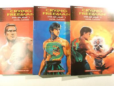 Crying Freeman Spur der Rache 1 + 2 + 3 komplett ( Schreiber & Leser ) Neu