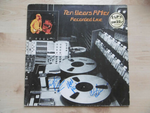 """Ten Years After signed LP-Cover """"Recorded Live"""" Vinyl"""