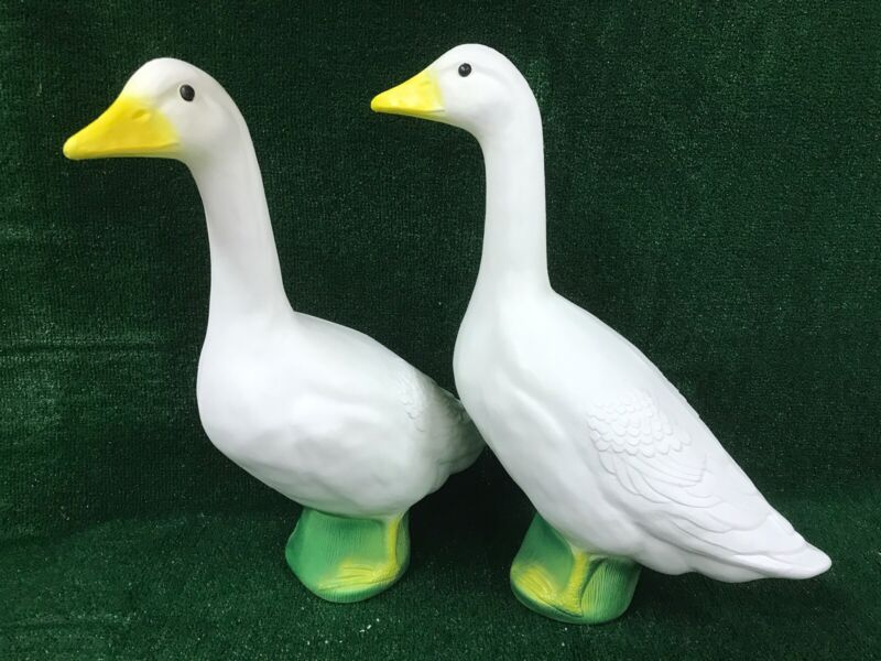 Blow Mold PAIR Of Geese Union Products The Original Goose For Dressing Up