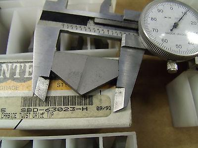 Interstate Spade Carbide Twist Drill Tip Insert 27mm SBD-63021-B or 34mm TD-23