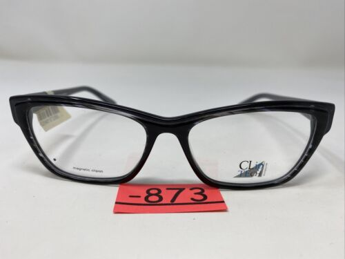 Clip Tech Eyeglasses Frame K3788-C3 53-15-135 Gray/Gray Swirl Full Rim -873 - $67.50