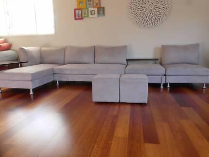 King Furniture Modular Lounge - Delta 2 - Mushroom Grey