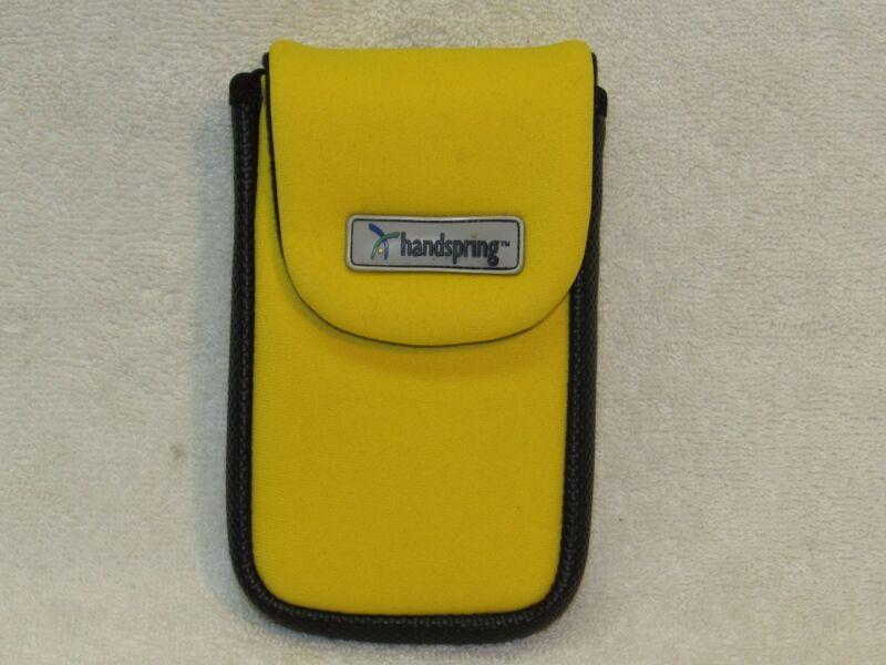 Yellow Pouch Sports Gym Case for phone or device universal clip NEW HANDSPRING
