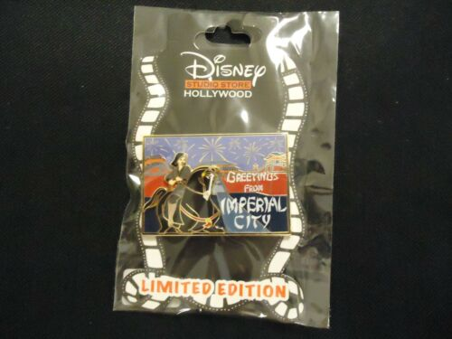 DISNEY DSSH DSF POSTCARD GREETINGS FROM IMPERIAL CITY MULAN PIN LE 300 ON CARD