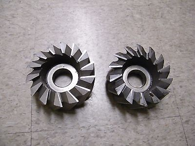 2 Pcs Hss Horizontal Mill Cutter Saw Milling 5 Diameter 1.5 Arbor 2.25 Thick