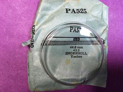 INGERSOLL YANKEE ROUND PLASTIC POCKET WATCH CRYSTAL PA 525