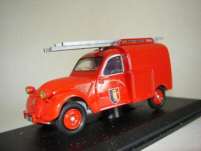 1/43 CITROEN 2CV Fourgonnette Sapeurs Pompiers 1954 Eligor E100953