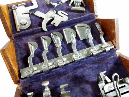 Restored Antique Singer Sewing Machine 1889 Oak Puzzle Box — Purple Cloth