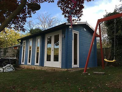 3m by 5.7m Log Cabin, Ideal For Garden Office Or Gym