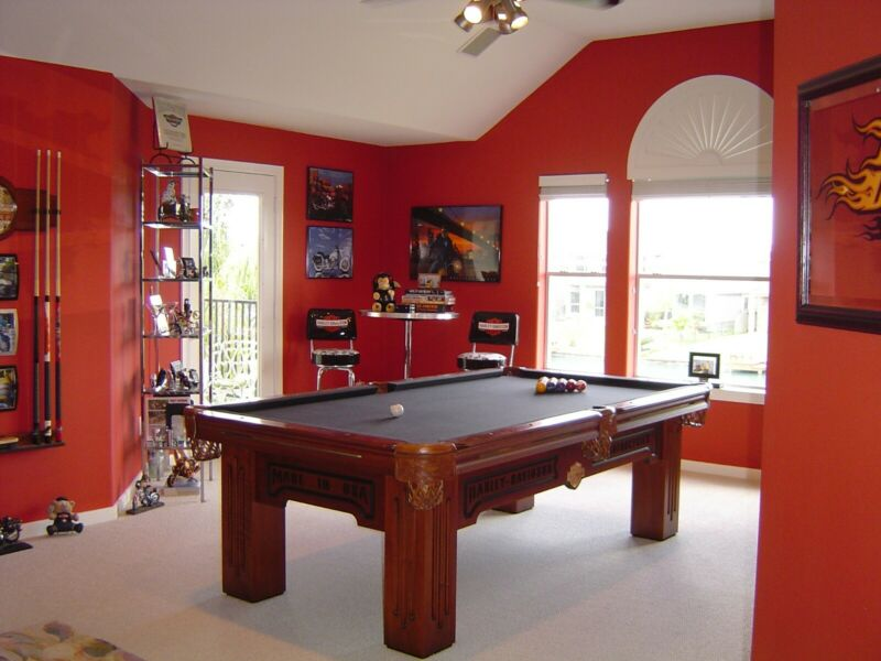 Harley-Davidson 8 Foot Pool Table Roadhouse Collection by Olhausen Billiards.