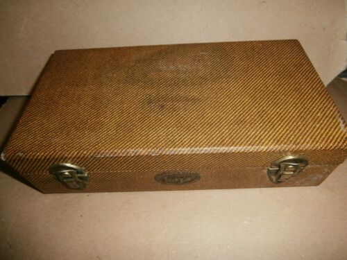Vintage Barnett & Jaffe Phila PA BAJA Slide Storage Case Box