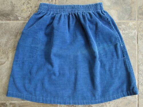 VTG Potato Skin Skirt Youth Girls 8 9 10 22-32 Waist Blue Corduroy Medium A-Line