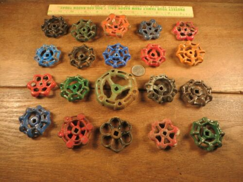 20 Vintage Valve Handles Water Faucet Knobs STEAMPUNK Industrial Arts & Crafts A