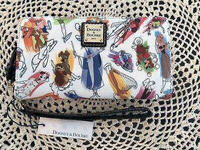 NWT Disney Dooney And Bourke Ink & Paint Wallet Wrislet