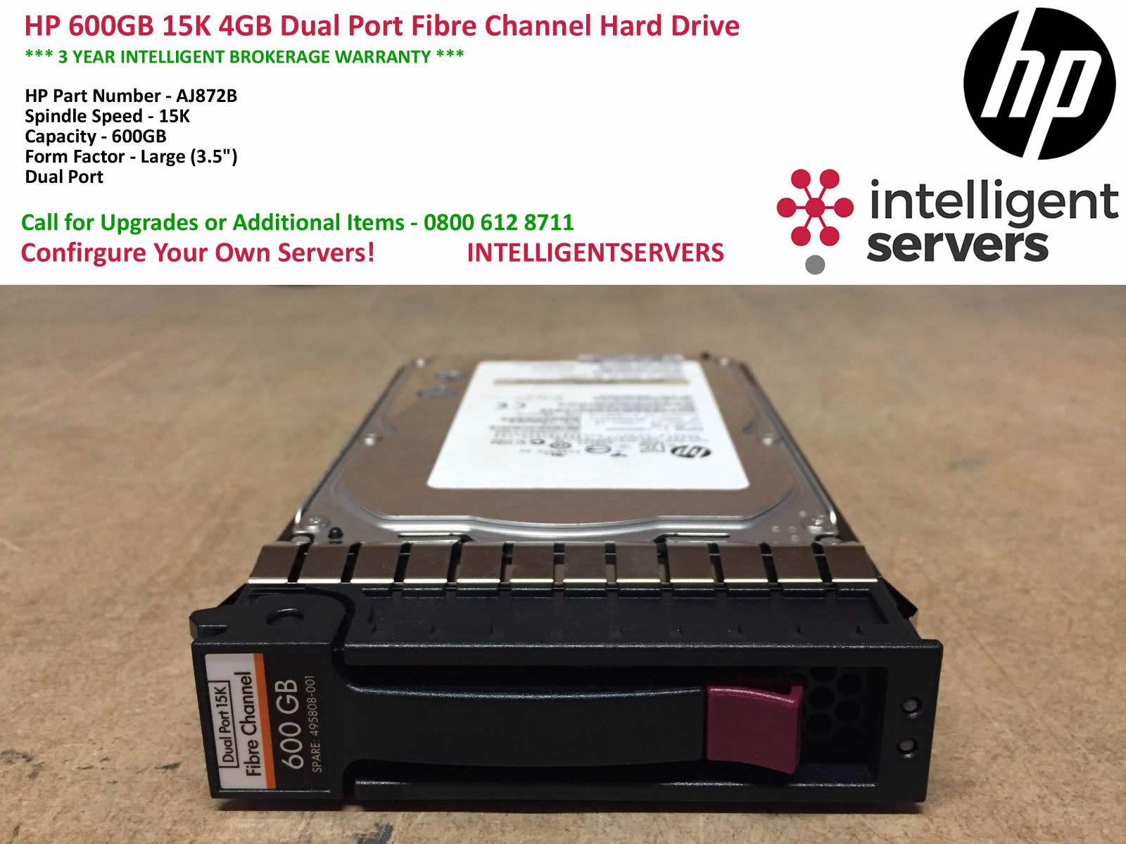 AJ872A HP 600 GB,15000 RPM BF600DASTL 495808-001 Hard D872Brive AJ