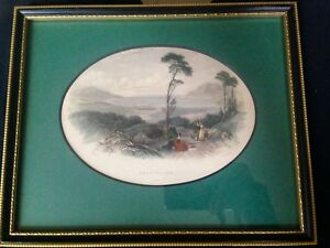 Antique Hand Coloured aquatint Scotland T.creswick