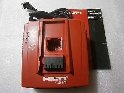 Hilti 736 Acs Battery Charger 110v-120v Used2016