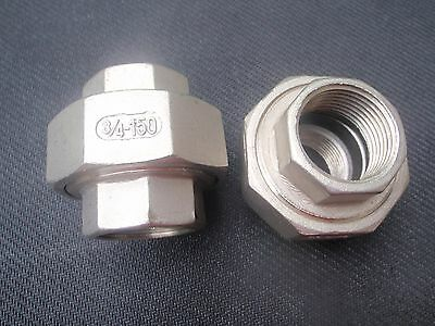 Un-075 Stainless Steel Union 34 Npt Pipe Split Coupling