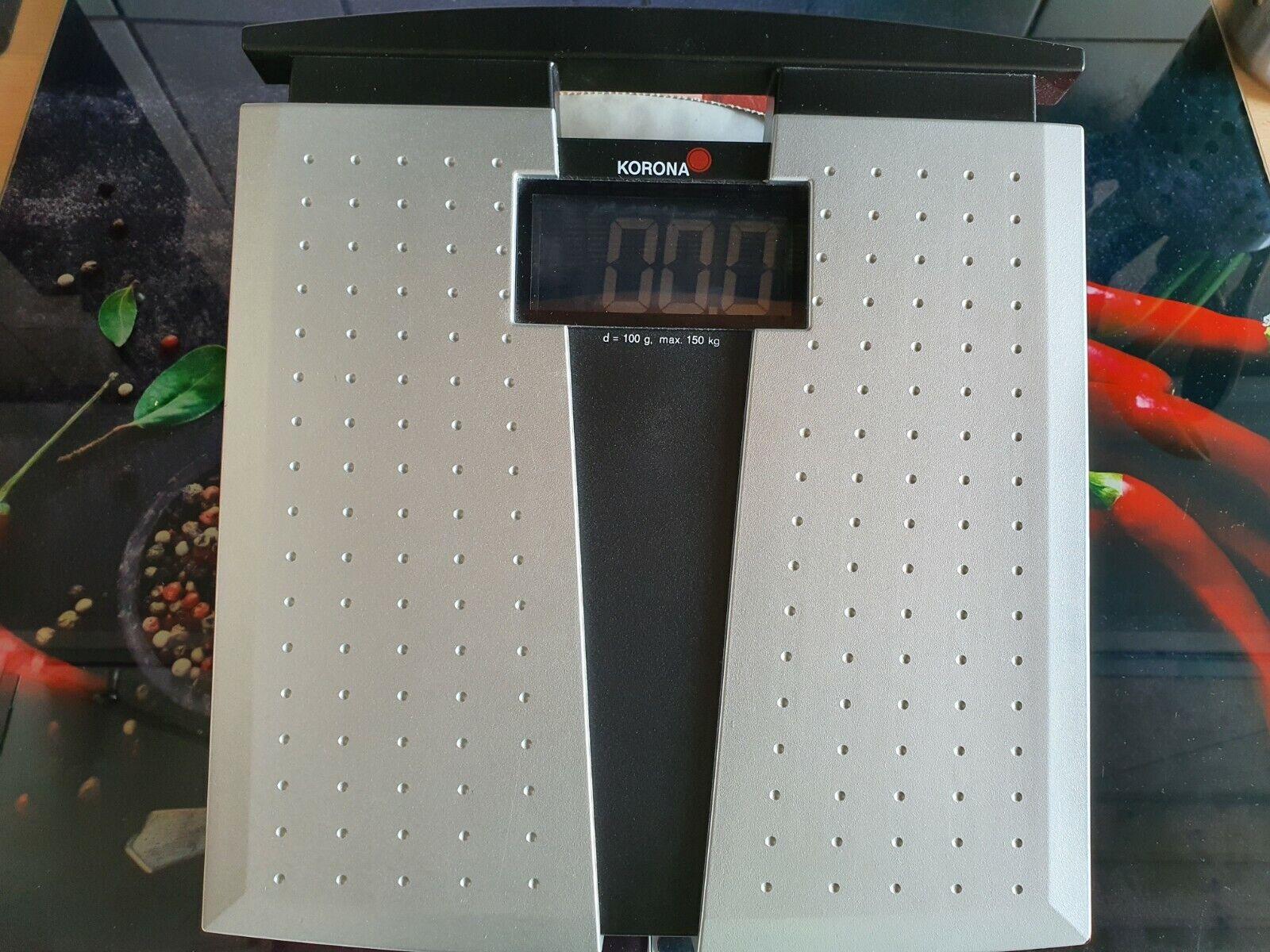 Korona Digitale Personenwaage Silber Janka 1013050, Black LCD-Display, 150kg