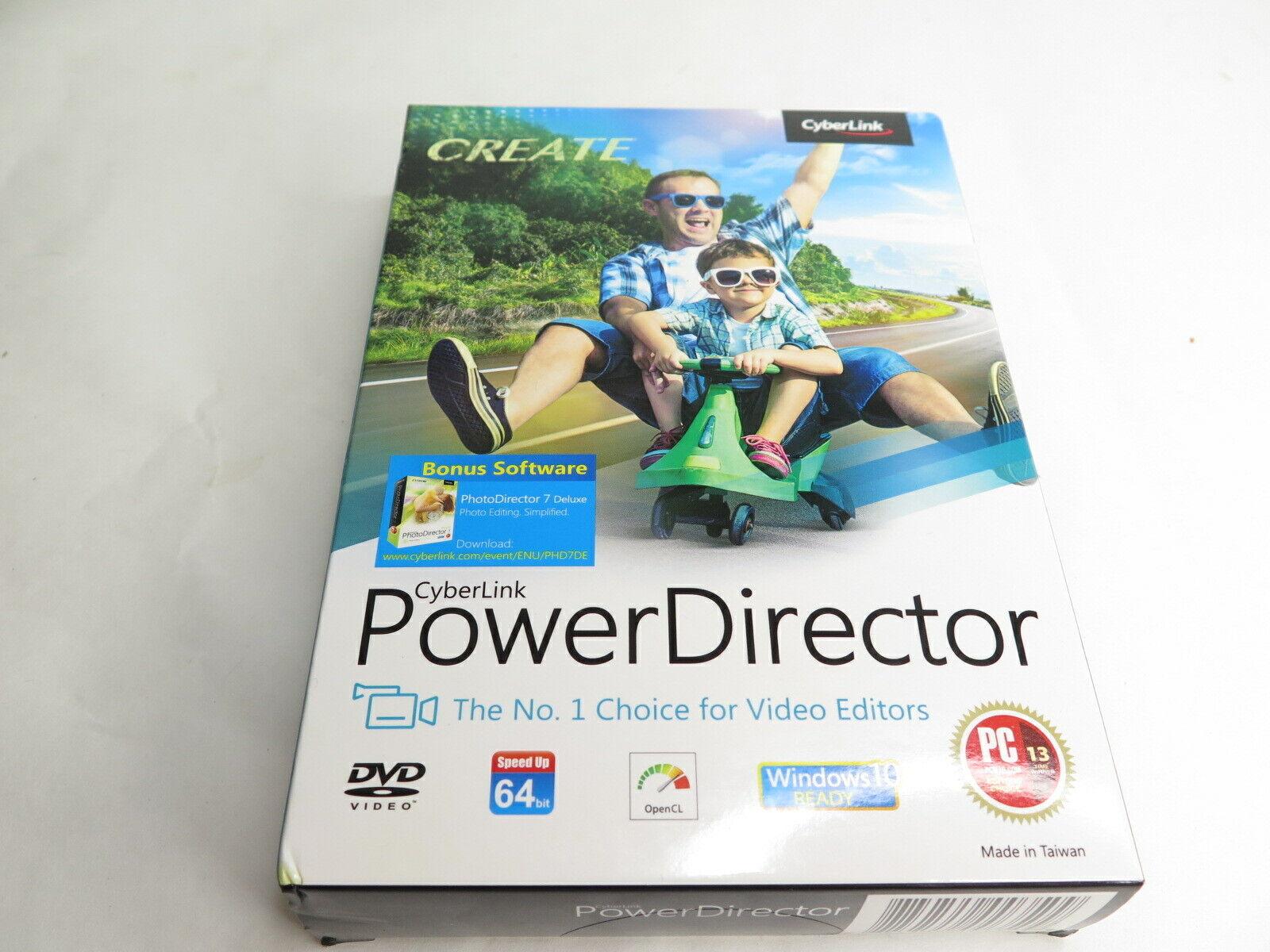 CyberLink PowerDirector Power Director Video Editor Software w/ Photo Director 7