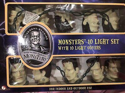 10 Vintage Halloween Blow Mold Frankenstein String Lights