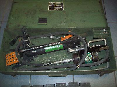 Burndy Y48b Y48bh Hypress 40-ton Hydraulic Crimping Tool Kit Dies Y34bp2 Pump