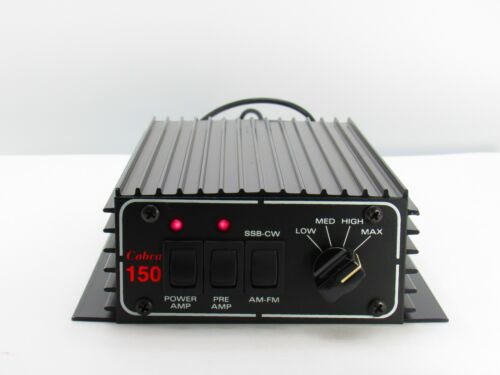Cobra 150 Ham Linear Amplifier 200W PEP 4-Power +Pre-amp 90 Day Warranty NEW!