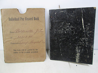 1918 WWi Soldiers Individual Pay Record Book Greenville, PA