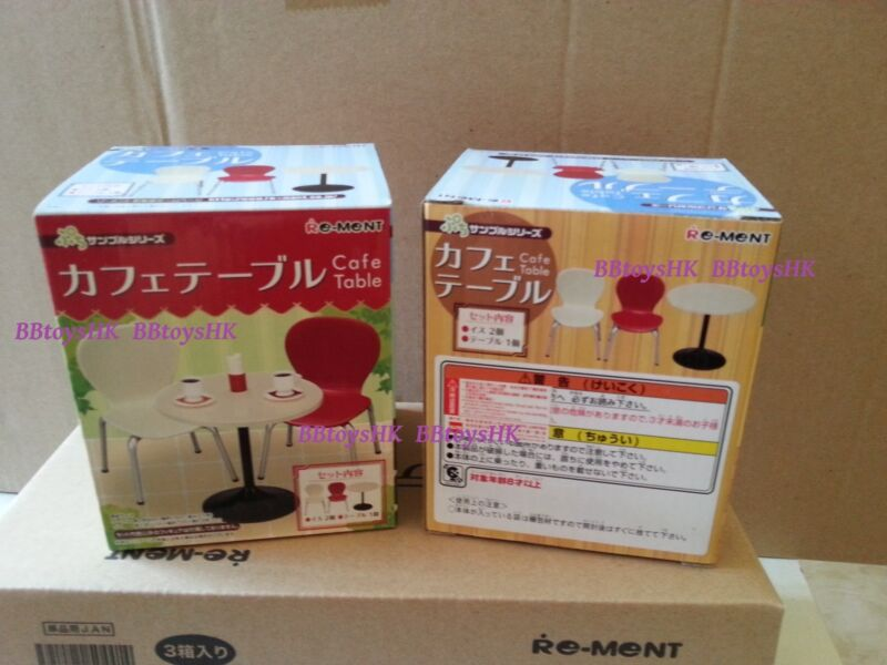 Re-Ment Miniature Mini Cafe Table and Chair Full Set Rement