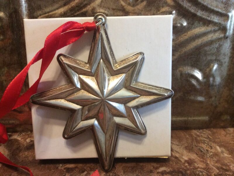 RARE LUNT 1994 ANNUAL STAR Sterling Silver Christmas Ornament / Pendant