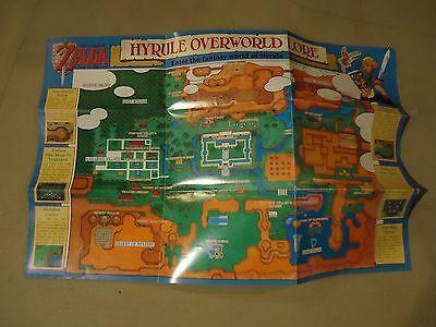 The Legend of Zelda A Link to Past Super Nintendo SNES Map Poster Insert VGC