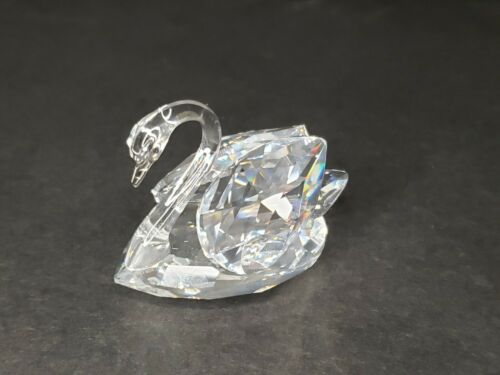 Marked Swarovski Crystal Swan 2.25in Collectible Figure (No Packaging or Cert.)