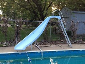 Inground Swimming Pool Water Slide Used Left Curve Ebay